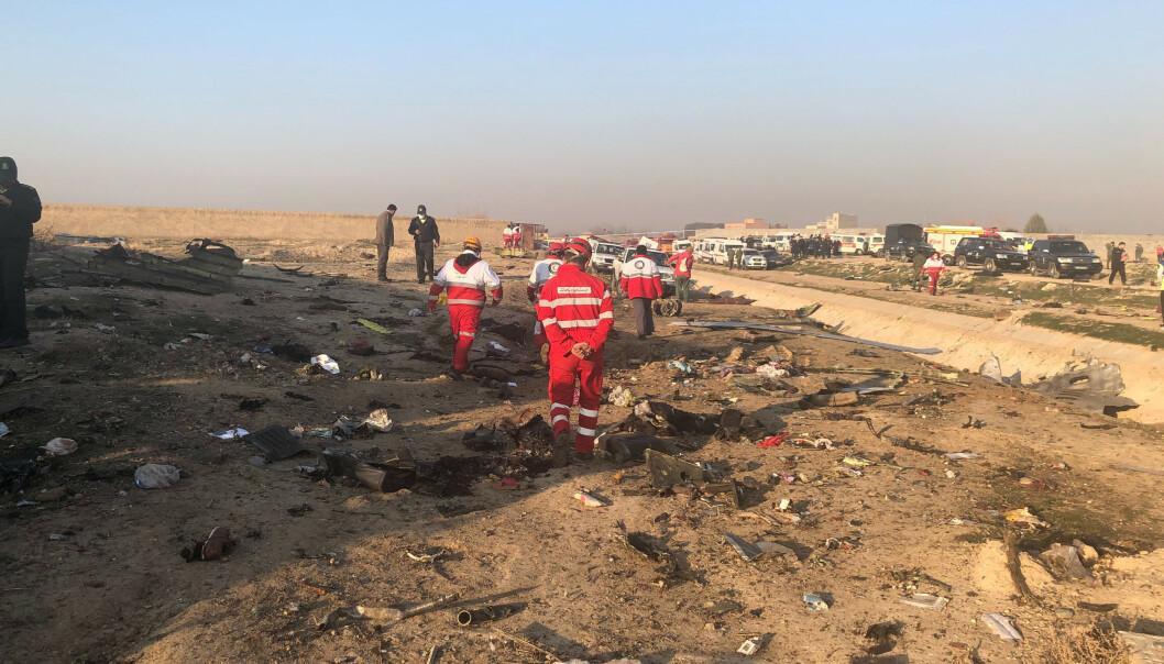 Fly med 170 om bord styrtet i Iran