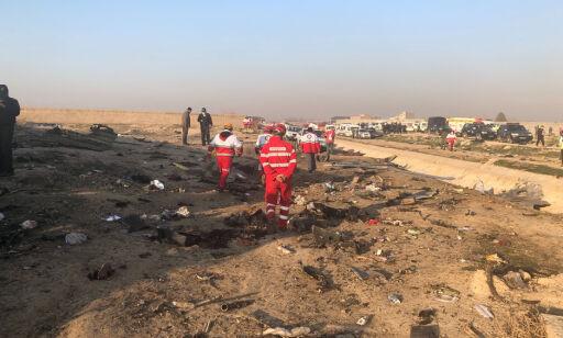 image: Fly med 170 om bord styrtet i Iran