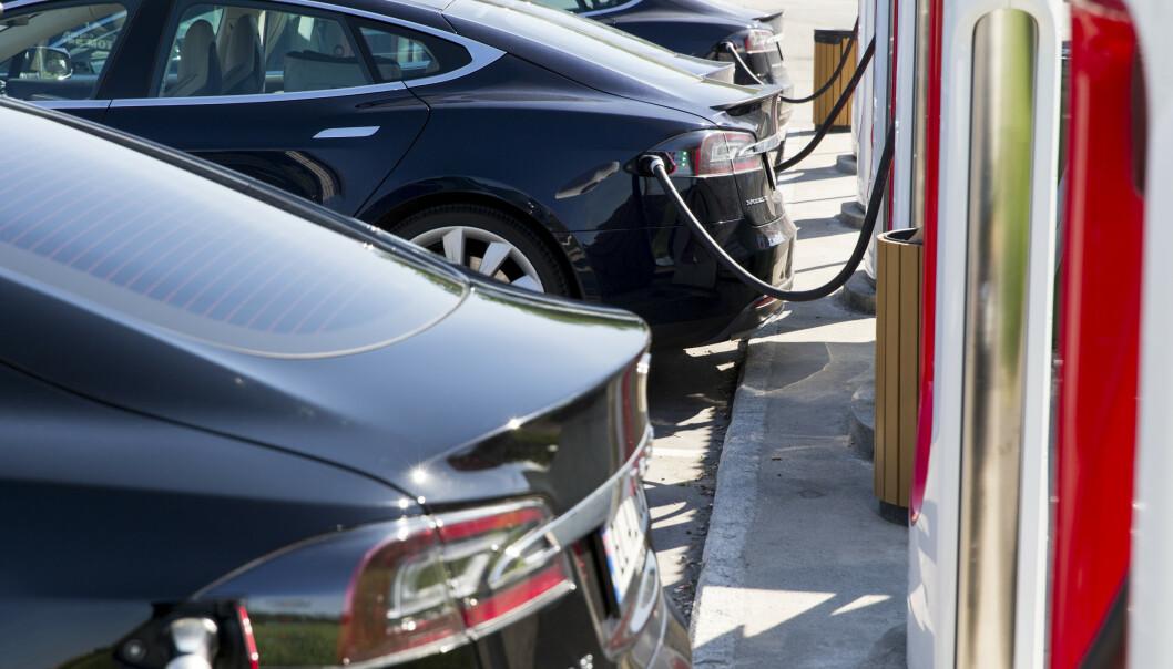 <strong>MÅ BETALE MER:</strong> Tesla Model S er blant bilene som må betale mer i bomringen i Oslo i vår. Foto: Tore Meek / NTB scanpix