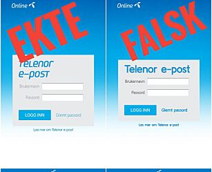 image: Advarer mot falsk Telenor-side