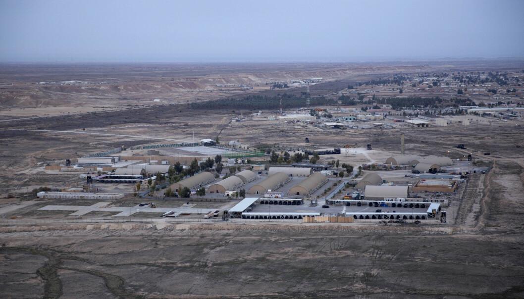 <strong>BASE:</strong> Ain al-Asad-basen i Irak var en av de to basene som ble angrepet av Iranske missiler i natt. Foto: AP / NTB Scanpix