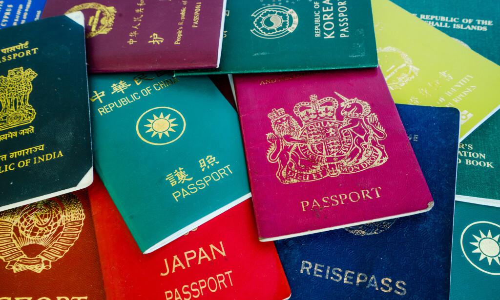 VERDENS BESTE: Passet som gir deg innreise til flest mulig land uten visum, er verdens mest verdifulle. Og for 2020 er det Japan som går av med seieren, med 191 land. Det norske passet har falt på listene de siste årene, og er nå havnet i en gruppe som er plassert på nivå 8. i rankinglista. Foto: Shutterstock/NTB scanpix