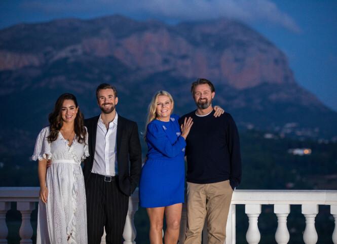 <strong>GJESTER:</strong> Stian Blipp og kona Jamina er noen av gjestene Thomas og Annette inviterte til Spania. Paret ønsker at gjestene skal sitter igjen med følelsen av å ha vært på besøk, snarere enn å ha vært med i et TV-program. FOTO: TV2