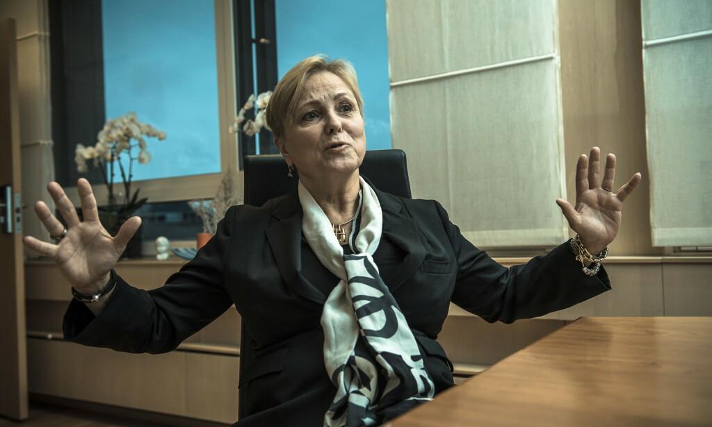 OPPGITT: Tidligere olje- og energiminister Thorhild Widvey begynner nesten å le da Børsen forteller om kvinnekrangelen i herreklubben som nektet henne adgang for sju år siden. Foto: Lars Eivind Bones