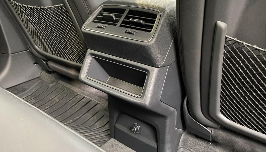 SONEFRITT: Testbilen var ikke utstyrt med egne varmejusteringer fro baksetet, noe som sparer energi. Foto: Fred Magne Skillebæk
