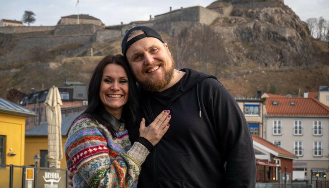 NYE MAKKERE: Katrine Moholt og Stian Thorbjørnsen blir å se sammen på TV 2 til sommeren. Foto: TV 2