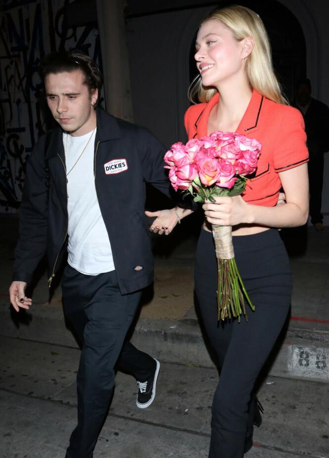 DATE: Brooklyn Beckham og Nicola Peltz på middagsdate i Los Angeles tirsdag kveld. Foto: NTB Scanpix