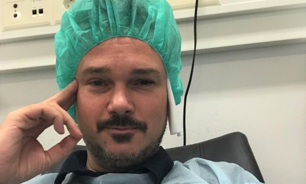 NYOPERERT: Tv-profil Tore Petterson er på bedringens vei etter å ha operert begge øynene sine. Foto: Privat
