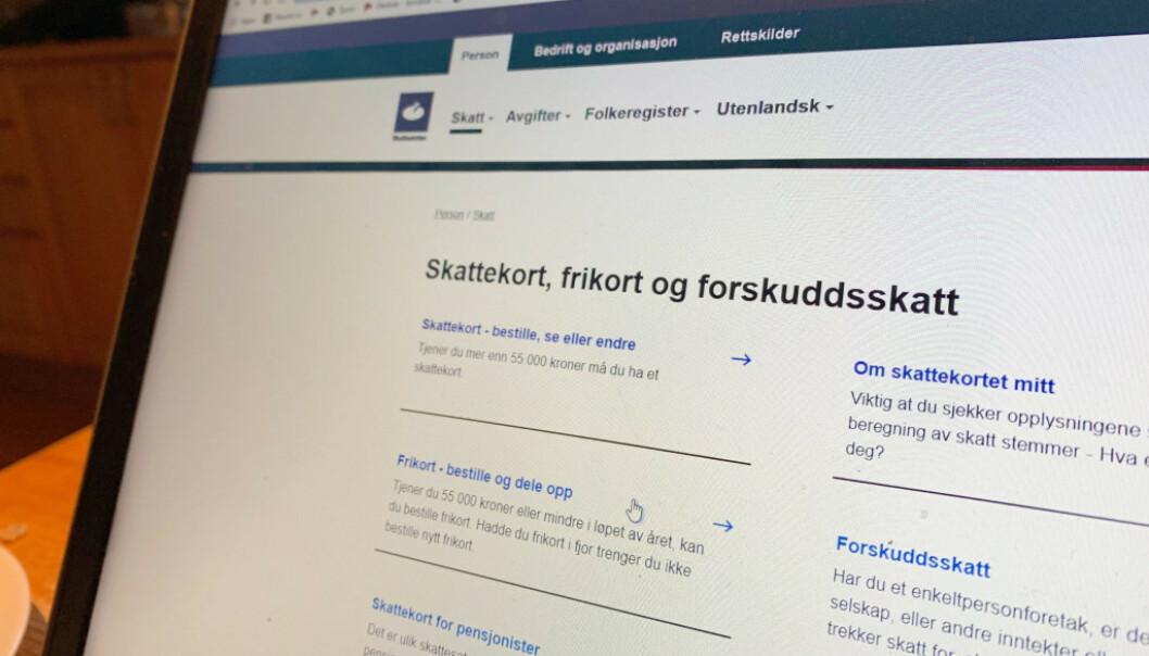 <strong>ENDRE SKATTEKORT:</strong> Ta en sjekk nå, så kan du unngå eller begrense restskatten neste år. Foto: Berit B. Njarga.