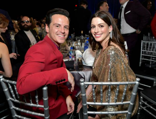 CRITICS CHOICE AWARDS: Andrew Scott og Anne Hathaway. Foto: NTB Scanpix