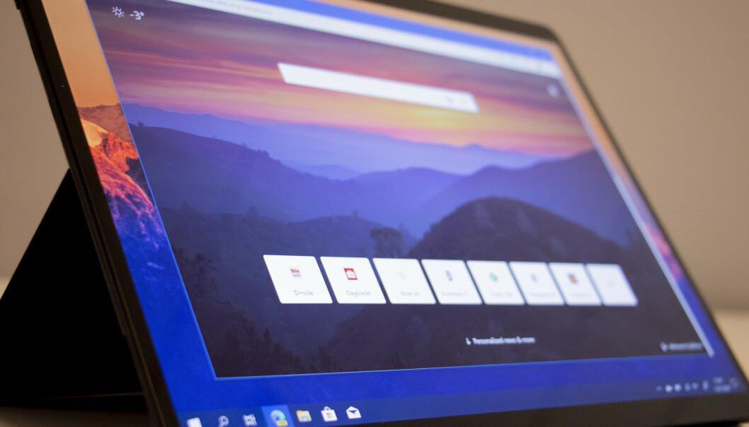 <strong>NY NETTLESER:</strong> Microsoft skroter den gamle utgaven av Edge med en ny versjon bygget på Googles Chromium. Foto: Martin Kynningsrud Størbu
