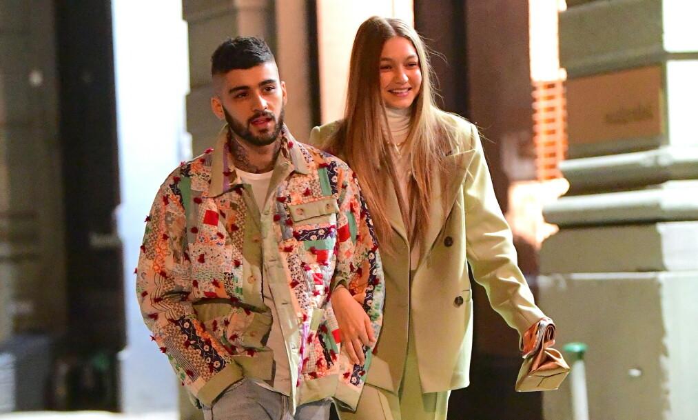 GJENFORENT: Gigi Hadid og Zayn Malik ser ut til å ha funnet tilbake til hverandre ett år etter bruddet. Foto: NTB Scanpix