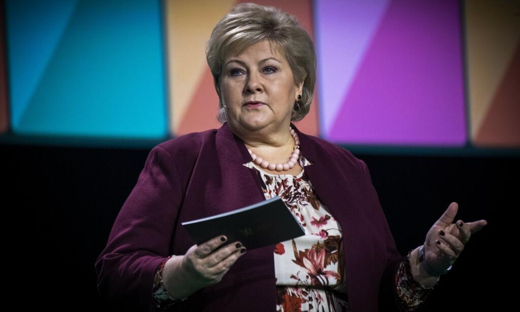 VIL KUTTE MER: Statsminister Erna Solberg (H) sier til Børsen at regjeringen ikke er ferdig med skattekuttene. Foto. Lars Eivind Bones / Dagbladet