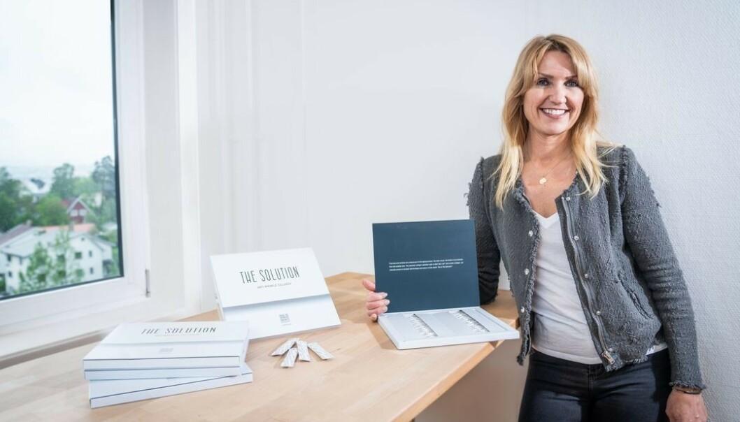 GRÜNDER: Cecilie Nordstrøm er kvinnen bak The Solution fra Oslo Skin Lab. Foto: Manus