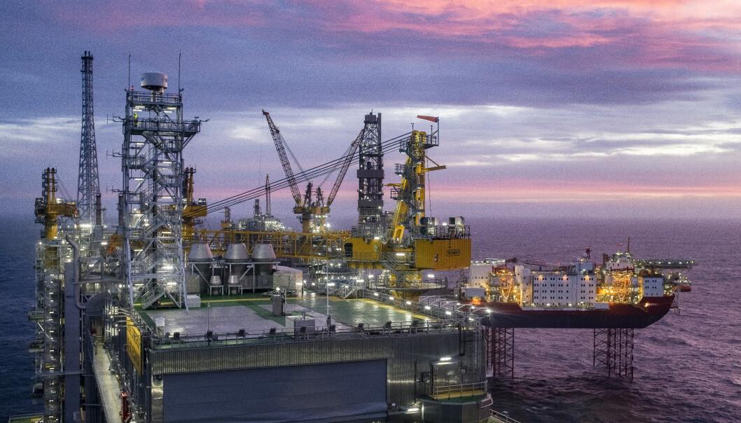 <strong>VEKST:</strong> Olje og gass trekker opp forhåpningene. Bildet er tatt i forbindelse med åpningen av Johan Sverdrup-feltet. Foto: Carina Johansen / NTB scanpix