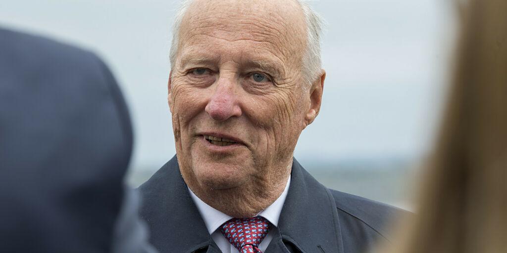image: Kong Harald utskrevet