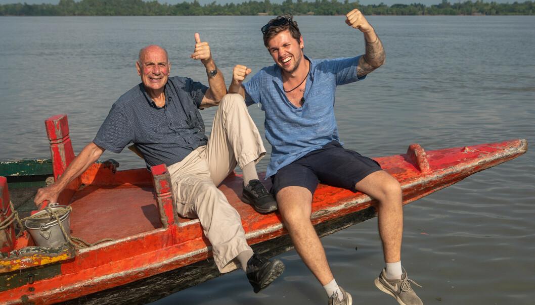 <strong>GODE VENNER:</strong> Arne og Samuel har et nært og tett bånd. Foto: TV 2