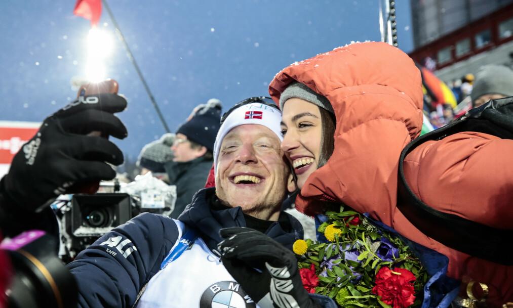 BLE FORELDRE: Johannes Thingnes Bø og kona Hedda Dæhli Bø ble foreldre tidligere denne uken. Foto: NTB Scanpix
