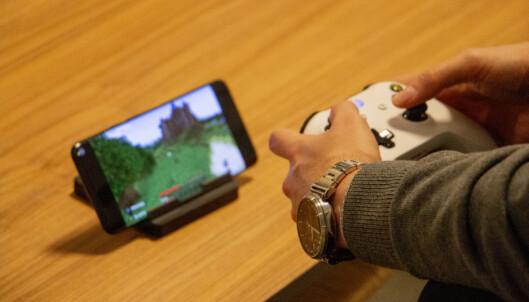 Spill konsollspill på mobilen