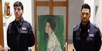 image: Stjålet kunstverk funnet skjult i vegg i Italia