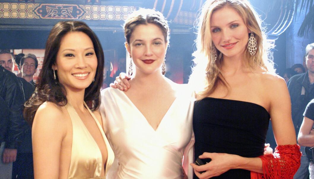 VELKJENT TRIO: Lucy Liu, Drew Barrymore og Cameron Diaz spilte i de velkjente «Charlie's Angels»-filmene. Nå mistenkes det at stjernen har oppkalt datteren sin etter en av medenglenes bok. Foto: NTB scanpix
