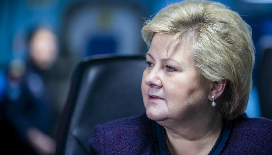 Erna Solberg dropper Davos-toppmøtet