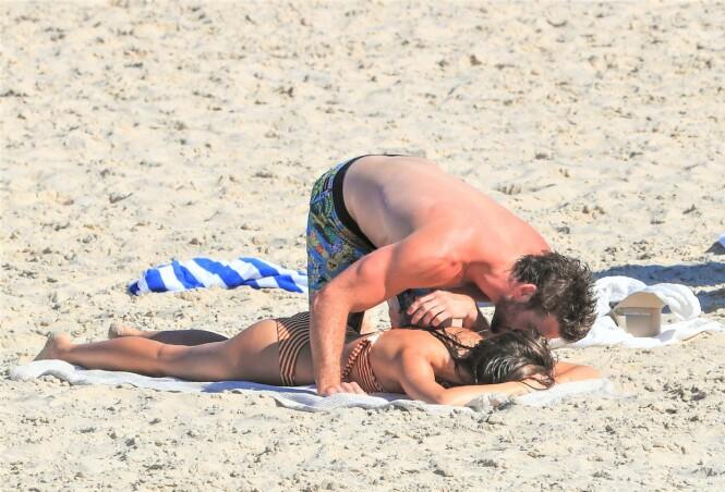 NY FLAMME: Liam Hemsworth har den siste tiden blitt koblet til modellen Gabriella Brooks. Foto: Splash News / NTB Scanpix