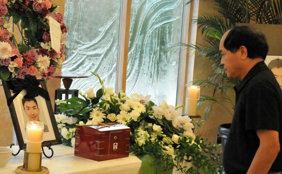 DREPT: Den kinesiske utveklingsstudenten Jun Lin ble drept av kanadiske Luka Magnotta i 2012. Han ble 33 år. Her fra minnemarkeringen i Canada i juli 2012. FOTO: NTB scanpix