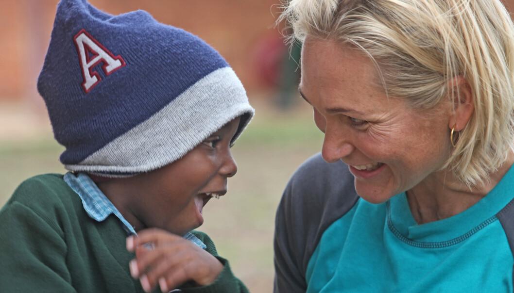 GODE ØYEBLIKK: - Alle barn har drømmer, uansett hvor i verden de kommer fra, sier Karina Hollekim. FOTO: Bjørn Owe Holmberg