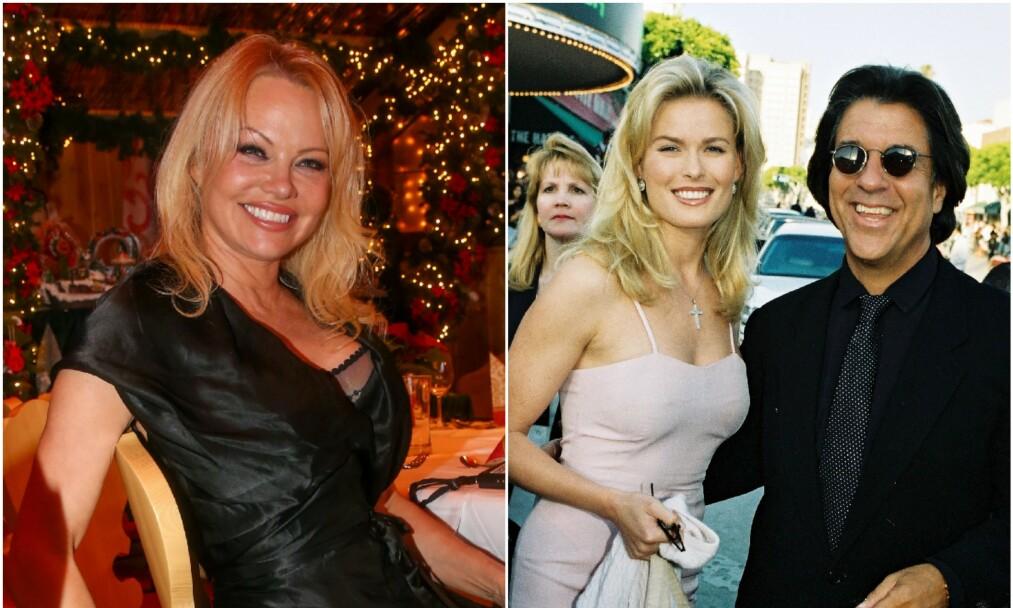 GIFTET SEG: Pamela Anderson stod brud mandag. Hennes nye ektemann er filmprodusenten Jon Peters. Han var i mange år kjæreste med Vendela Kirsebom. Her er de to sammen på rød løper i 1995. Foto: NTB Scanpix