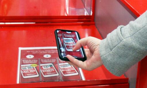 image: Scan varene med mobilen når du handler