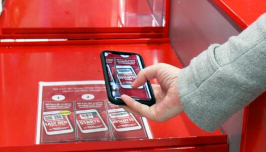 Scan varene med mobilen når du handler