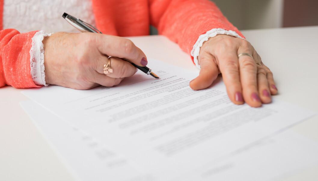 TESTAMENTE: Den nye arveloven gir deg noe større frihet når det gjelder fordeling av dine eiendeler. FOTO: NTB/SCANPIX