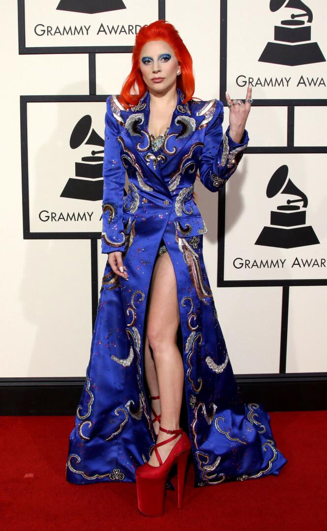 2016: Lady Gaga. Foto: NTB Scanpix