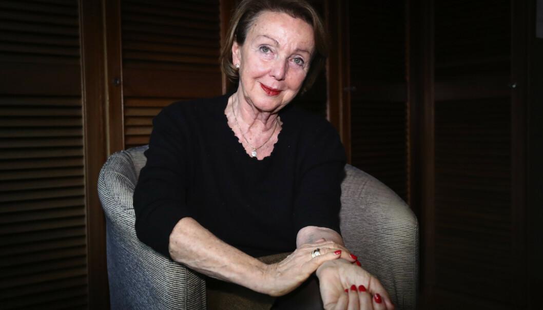 SKYGGE OVER LIVET: 77 år gamle Eva Umlauf var bare to år gammel da hun ble sendt til Auschwitz, sammen med foreldrene. Foto: AP /NTB Scanpix
