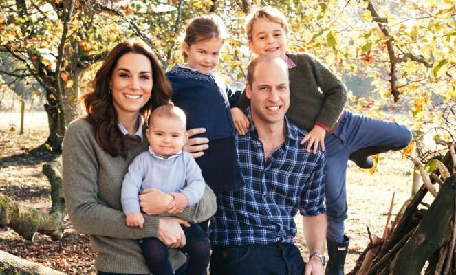 FAMILIE: I dag har Kate og William tre barn, George, Charlotte og Louis. Foto: NTB Scanpix