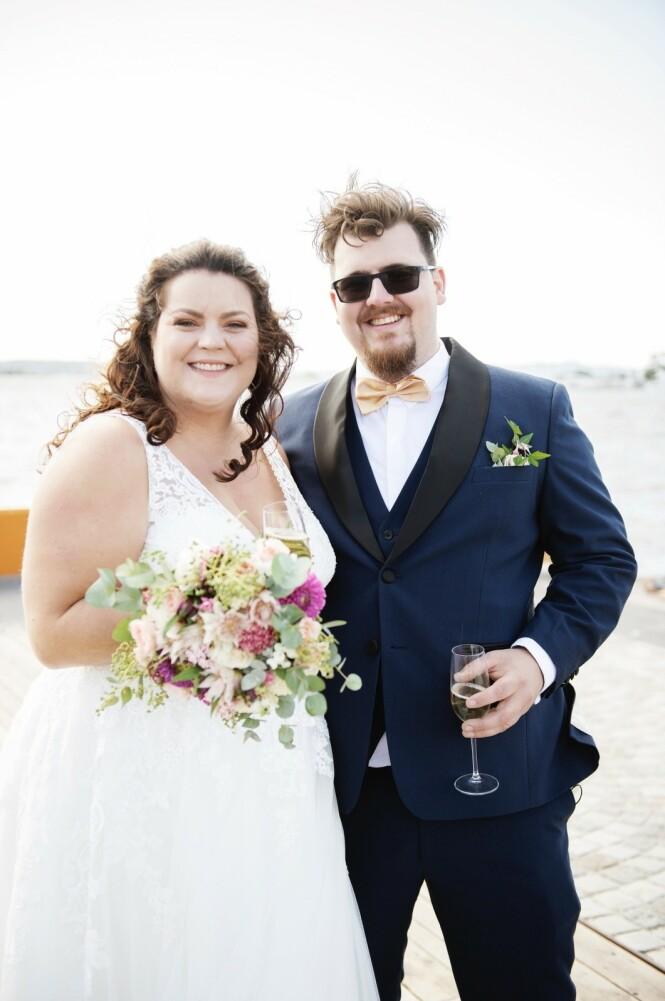 GIFT: Linn Pfister og Kristoffer Grinde er ett av parene som har giftet seg i programmet. Foto: TVNorge