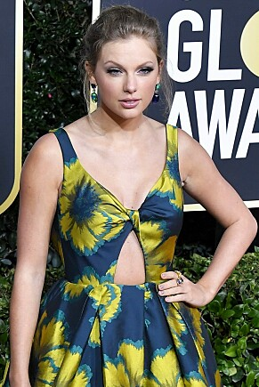 2020: Taylor Swift under Golden Globes-utdelingen i år. Foto: NTB scanpix