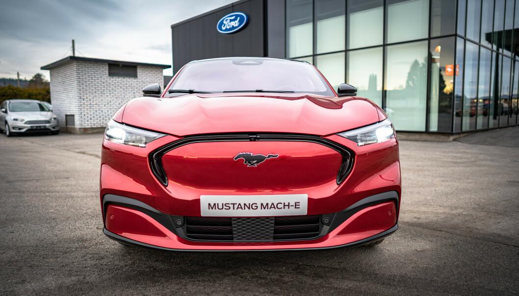 """Her er Ford Mustang Mach-E på """"hemmelig"""" besøk i Norge"""