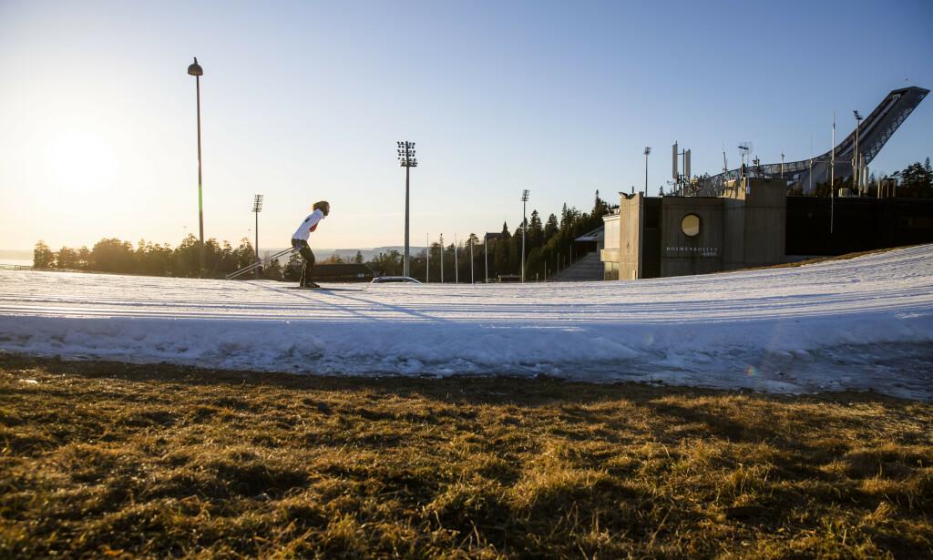 LITE SNØ: Det går mot en snøfri januar i Oslo. Foto: NTB Scanpix