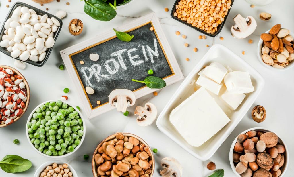 PROTEIN I PLANTEMAT: Det finnes mange gode plantebaserte kilder til protein. Foto: NTB Scanpix / Shutterstock