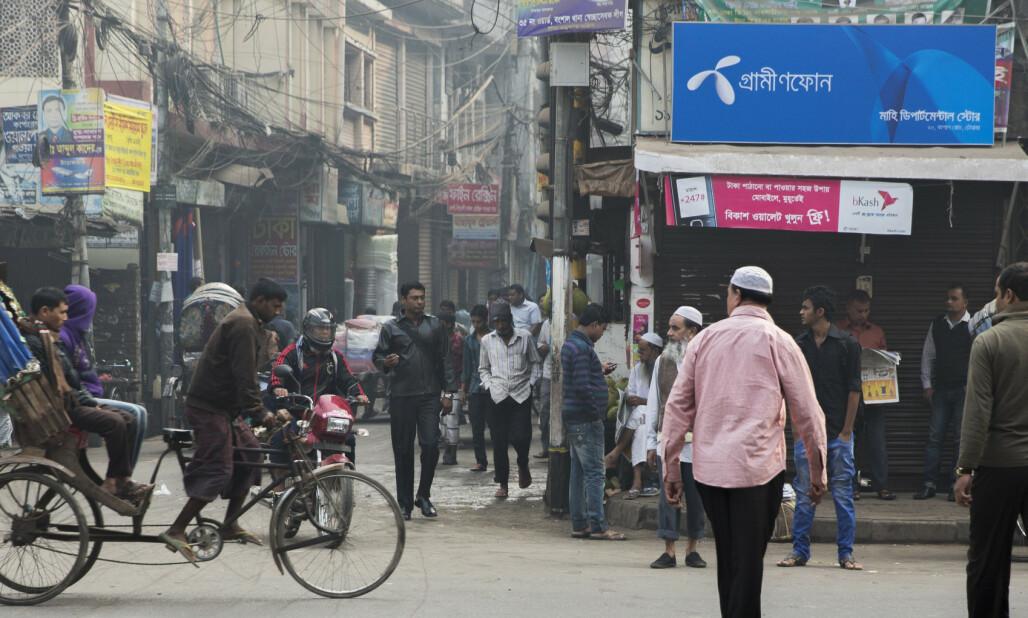 <strong>BUTIKK:</strong> Telenor henter i overkant av en milliard kroner i utbytte fra datterselskapet i Bangladesh. Foto: NTB scanpix