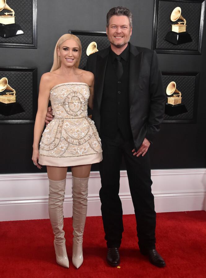 Gwen Stefani og Blake Shelton. Foto: NTB Scanpix