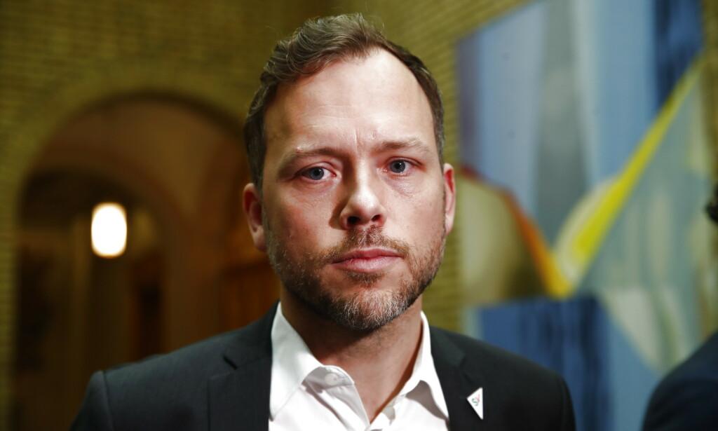 SV-leder Audun Lysbakken mener Norge bør si tydeligere fra og fordømme planen for Israel og palestinerne som USAs president Donald Trump la fram tirsdag. Foto: Terje Pedersen / NTB scanpix