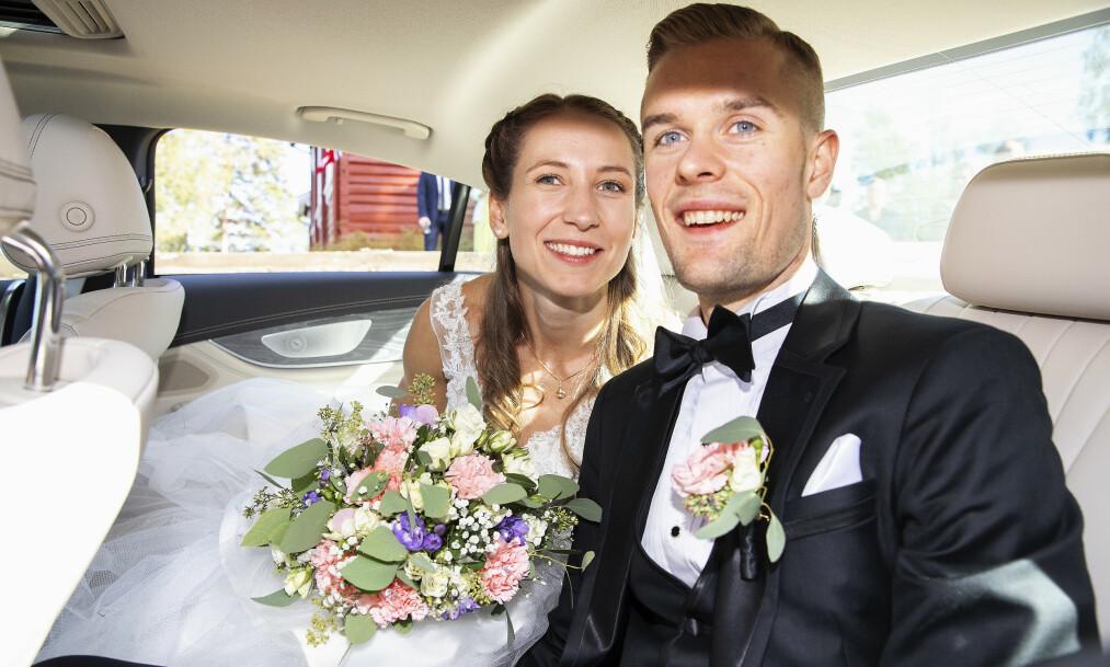 <strong>VENTER BARN:</strong> Filip Ingebrigtsen blir pappa for første gang i mars med kona Astrid Mangen Ingebrigtsen. Foto: Andreas Fadum/ Se og Hør
