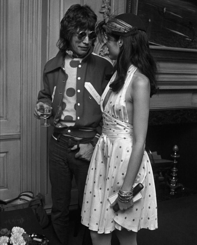 MEd MICK: Verdensstjernen og skjønnheten. Møtet med Mick Jagger forandret Biancas liv.