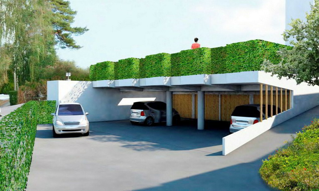 VIL BYGGE TAK: Slik ser forslaget til endring ut. Foto: Mellbye Arkitektur Interiør