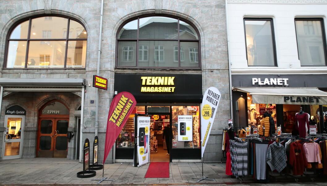<strong>REDDET:</strong> Teknikmagasinet begjærte seg konkurs i Sverige 15. januar. Nå er kjeden reddet, inkludert de 35 norske butikkene. Foto: Håkon Mosvold Larsen / NTB scanpix