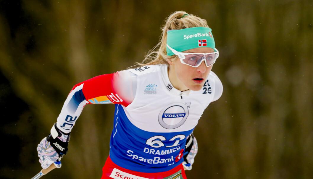 Therese Johaug under 10 km kvinner fristil i NM på ski i Konnerud. Foto: Terje Bendiksby / NTB scanpix