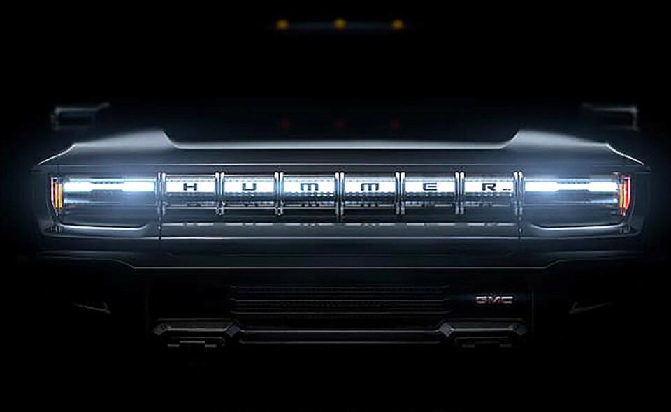 GMC Hummer pickup: Bilen skal vises 20. mai, og kommer på markedet allerede neste vår. Foto: GM